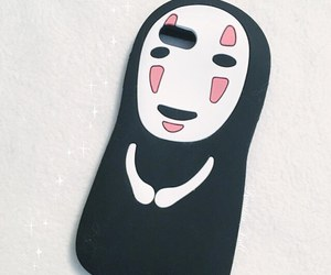 ghibli, Kaonashi, and phone case image