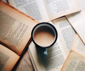 coffee, book, and love image