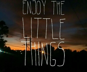 little, sunset, and things image
