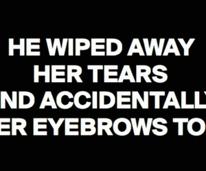 eyebrows, funny, and lol image