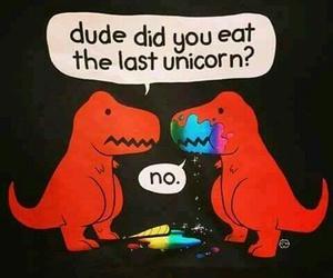 dinosaur, unicorn, and eat image