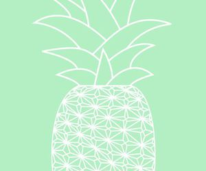 wallpaper, fruit, and pineapple image