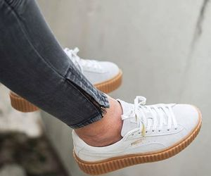 puma, white, and shoes image