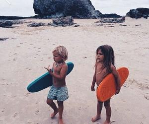 kids, beach, and child image