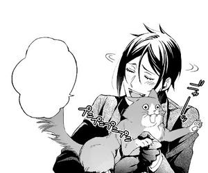 black butler, cat, and kawaii image