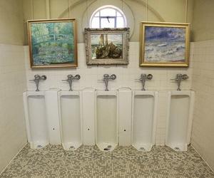 art, bathroom, and paintings image