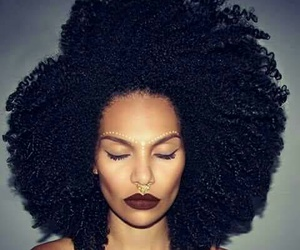black, Afro, and hair image