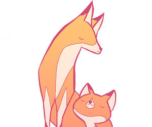 art, colorful, and fox image