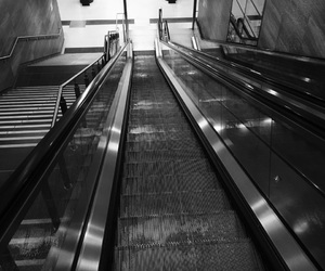 berlin, black and white, and subway image