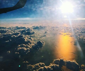 cloud, fly, and plane image