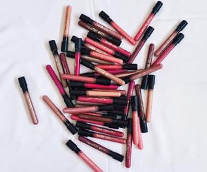 cosmetics, lipgloss, and lips image