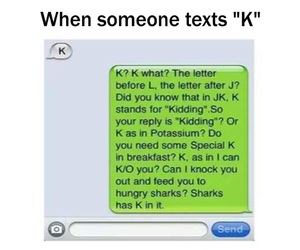 text, funny, and K image