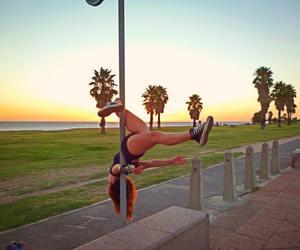 girl, poledancer, and me image