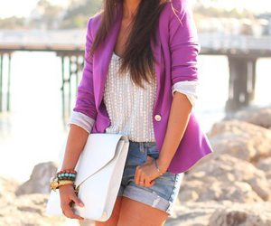 fashion, purple, and shorts image