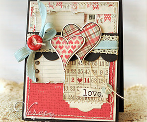 card, heart, and notebook image