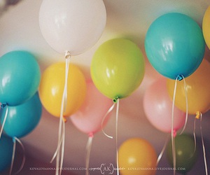 balloon, colors, and party image