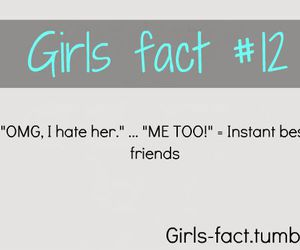 girl, best friends, and fact image