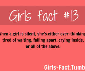 girl, fact, and quote image