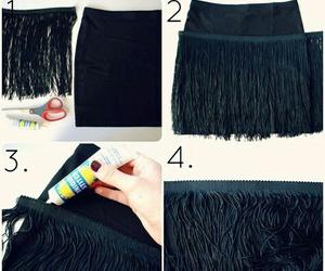 diy, skirt, and black image