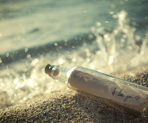 love, bottle, and I Love You image
