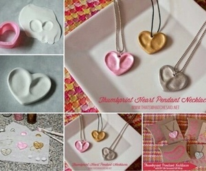diy, necklace, and love image