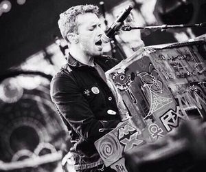 coldplay, Chris Martin, and piano image