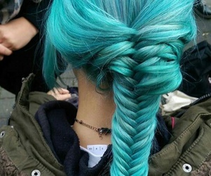 blue, turquoise, and braid image