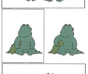 cute, dinosaur, and hug image