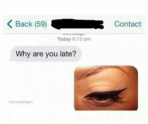 eyeliner, funny, and lol image