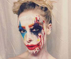 clown, joker, and make up image