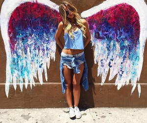 angel, style, and wings image