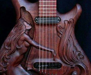 guitar, music, and wood image