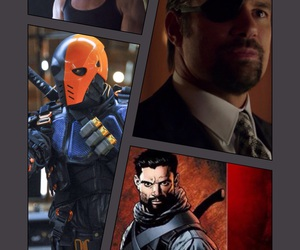 arrow, manu bennett, and deathstroke image