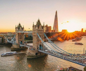 london, sunset, and england image