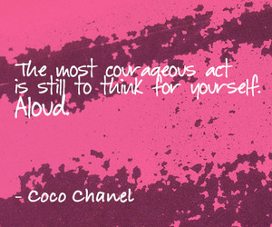 chanel, coco chanel, and quote image