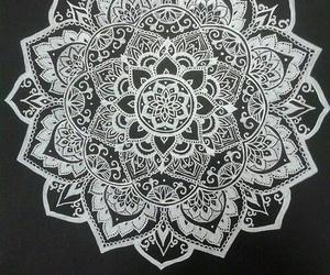 mandala, art, and flowers image