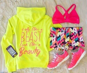 fitness, workout, and pink image