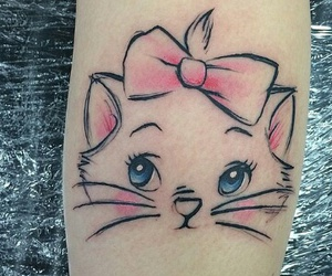 disney, tattoo, and cat image