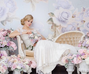 beauty, blonde, and bridal image