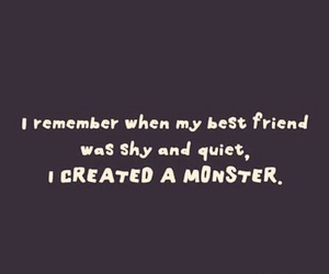 best friend, funny, and monster image