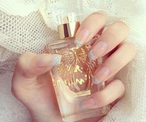 nails, perfume, and girly image