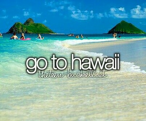 hawaii, bucket list, and summer image