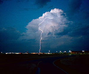 lightning, clouds, and photography image