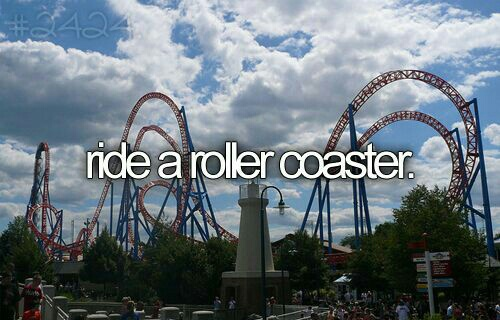Roller Coaster, bucket list, and before i die image