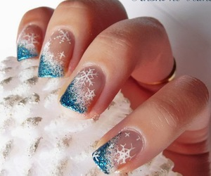 fashion, nails, and snow flakes image
