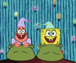 spongebob, patrick, and gif image