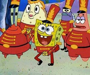 spongebob, dance, and gif image