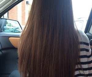 brunette, girly, and hair image