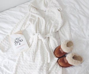 bathrobe, home, and blogger image