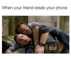 funny, phone, and friends image